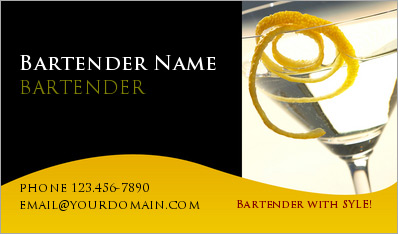 Unique bartender business cards arts arts bartender business cards for bartnders reheart Image collections